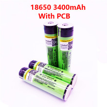2019 NEW  4PCS  Original LiitoKala Protected 100% Original NCR18650B 18650 Rechargeable battery 3400 mAh with 3.7V PCB