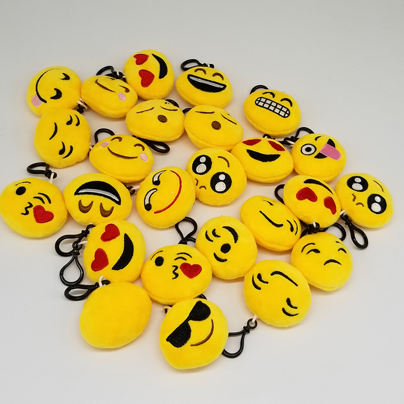 30pcs Cute 6cm Emoji Small Pendant Smiley Emoticon Novelty Soft Plush Toys Key Bag Pendant Key Chain Hook30pcs Cute 6cm Emoji Small Pendant Smiley Emoticon Novelty Soft Plush Toys Key Bag Pendant Key Chain Hook