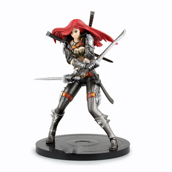 Sexy 20cm LOL Katarina Du Couteau the Sinister Blade Action Figure PVC Kids Gift Toys doll Anime Movie Model Cosplay collection league of legends katarina figure