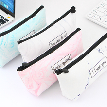 Marble Pencil Case Pencil Bags Stationery School Supplies Quality Printed PU Pencils Storage Pencil Cases School Tools nordic style marble pencil case for girls toiletry makeup storage supplies marble pattern bts pencil box pencil bag school tools