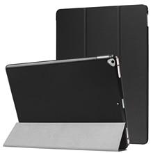 Чехол для iPad Pro 12.9 2017 A1670/A1671, PU Ultra Slim Магнитная PC задняя крышка автовключение/сна раскладной стенд 12.9 В виде ракушки Coque