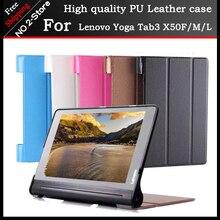 Ultra Delgada de la pu funda de piel para 10.1 pulgadas Lenovo Yoga Tab 3 X50F/X50M, Caso Para Lenovo Tab 3 X50L Yoga Envío Libre 3 regalo