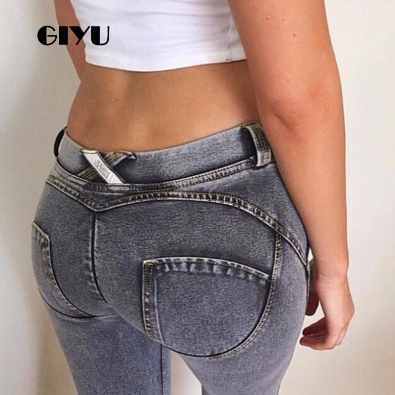Giyu Push Up Women High Waist Jeans Casual Denim Pencil Pants Skinny Trousers Feminino Vintage Vaqueros Mujer