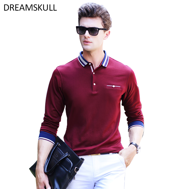 Casual   Polo   Shirt Men Fashion Long-Sleeve Men's   Polos   New Arrival Fashion Brand   Polo   Shirts Man Hot-Sale Slim   Polos   Blouse Shirt
