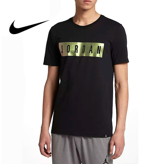 9328a625 Original 2018 NIKE Men's T-shirts Short Sleeve Sportswear Quick Drying  O-Neck Breathable