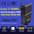 Новый Intel 5-го Поколения Core i7 5500U 5600U Mini PC Windows 8.1 Мини компьютер Windows 10 Мини-Пк 4 К HD HTPC TV box, 2 * HDMI, 2 * LAN