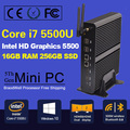 New Intel 5th Gen Core i7 5500U 5600U Mini PC Windows 8.1 Mini Computer Windows 10 Minipc 4K HD HTPC TV box 2* HDMI 2* LAN