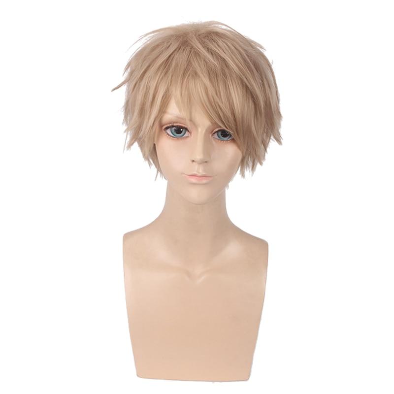 Anime Kiss Him Not Me Men Short Wig Cosplay Costume Watashi ga Motete Dosunda Heat Resistant Synthetic Hair Halloween Party Wigs