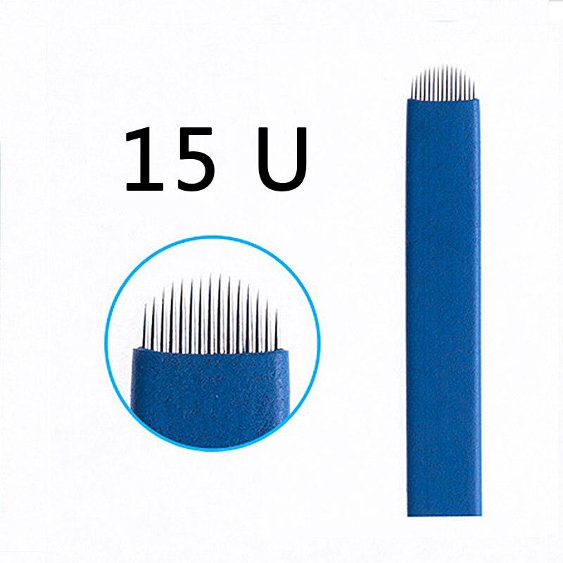 Beauty & Health Energetic 200pcs Blue Needles 12/14/15/16/18/21 U Shape Needle Eyebrow Tattoo Microblading Blades For Permanent Makeup Manual Pen Agulhas