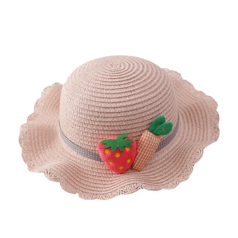 Baby Girls Summer Hat and Bag New Children 39 s Lace Brim Caps Beach Summer Sun Visor Hat Foldable Roll Up Soft Kids Straw Foldable in Hats amp Caps from Mother amp Kids