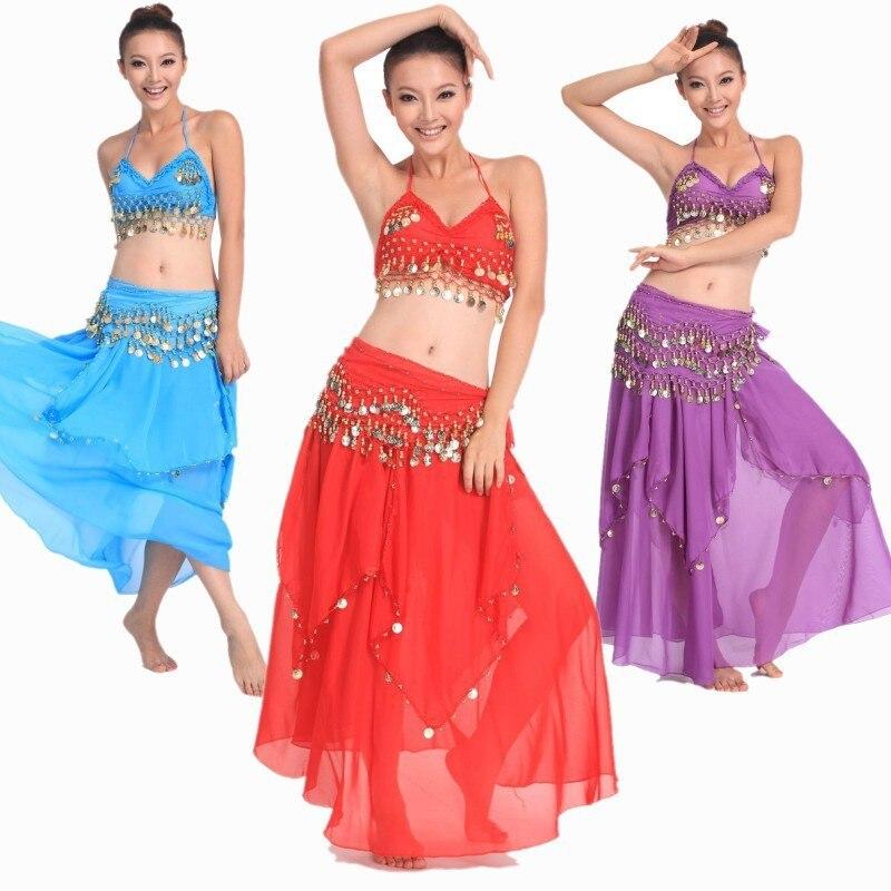 f5aa0d4ad801 2015 nuevo 3 piezas traje de danza del vientre traje de Bollywood vestido  indio vestido de danza del vientre mujeres danza del vientre conjuntos de  ...