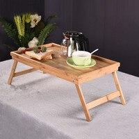 Bamboo Notebook Computer Desk Simple Dormitory Small Study Book Folding Table Tea Diningtable Friendly Multi Purpose