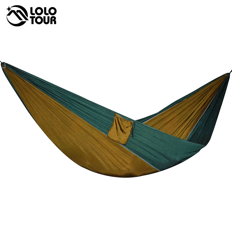 Double Outdoors Indoor Parachute Cloth Sleeping Hammock Strong Camping Swing Leisure Flyknit Hamac Hamaca Hamak Garden Hangmat thicken canvas single camping hammock outdoors durable breathable 280x80cm hammocks like parachute for traveling bushwalking