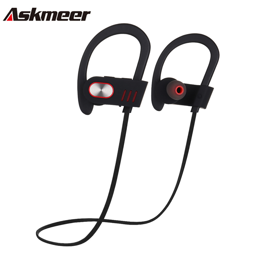 Askmeer V5 Bluetooth Earphones Sport Running Wireless Handsfree Earbuds Headset IPX4 Waterproof with Mic for Smartphone Music skhifio magnetic earphone bluetooth 4 1 wireless earphones sport headset with mic microphone handsfree for smartphone phone