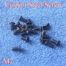 1Pcs M2 Black Countersunk Head Machine Screws grade 10.9 carbon Steel bolt M2*3/4/5/6/7/8/10 Screw