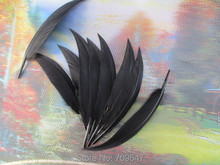 Wholesale!200PCS/LOT!10-15cm Precious Curved Black Goose Quill Feathers Wild Duck 4-6inch/10-15cm diy hot