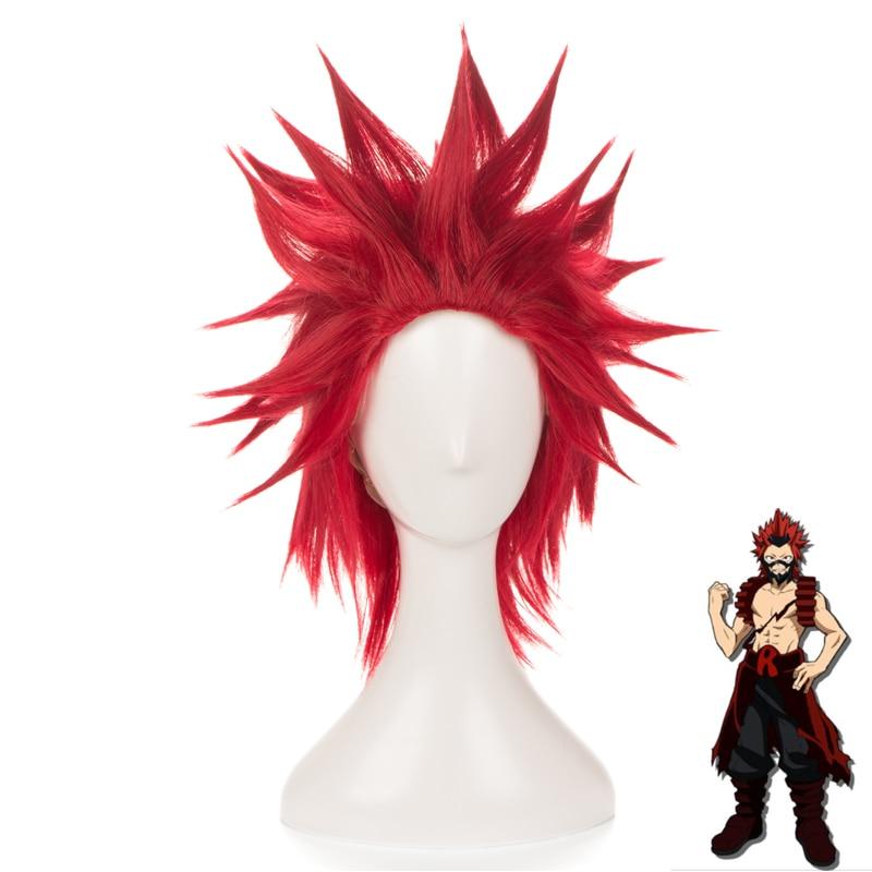 My Boku no Hero Academia Eijirou Kirishima Costume Cosplay Wig Need styled