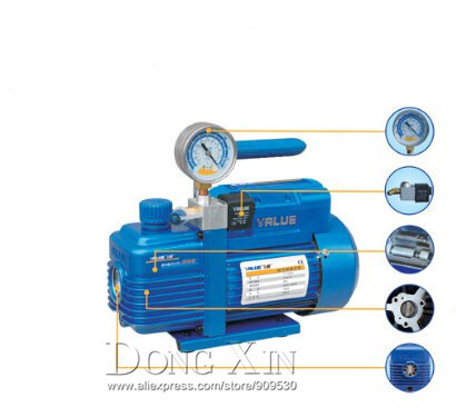 Fast air free shipping new refrigerant vacuum pump suit for r410a,r407c,r134a,r12,r22 refrigerate 220