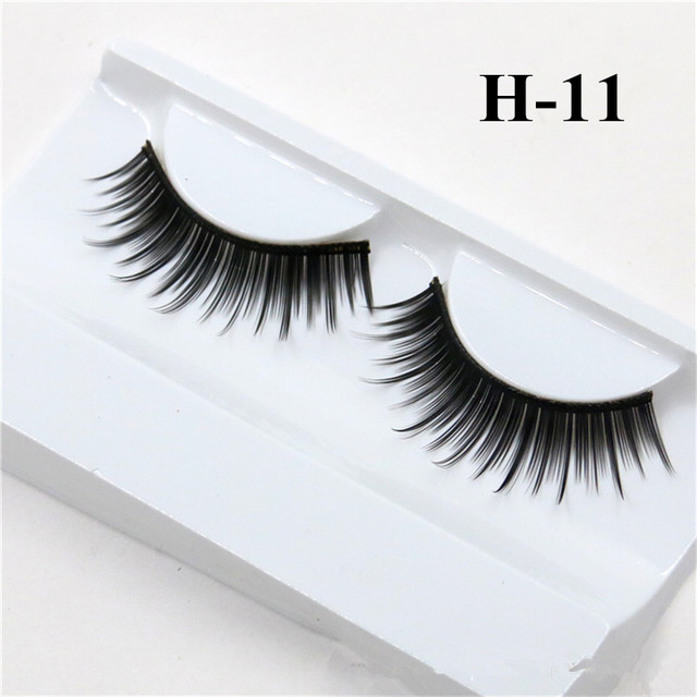 1 Pair False Mink 3D Eyelashes Natural Eyelash Extensions Cruelty Free Mink Lashes Eye Makeup Tools 3