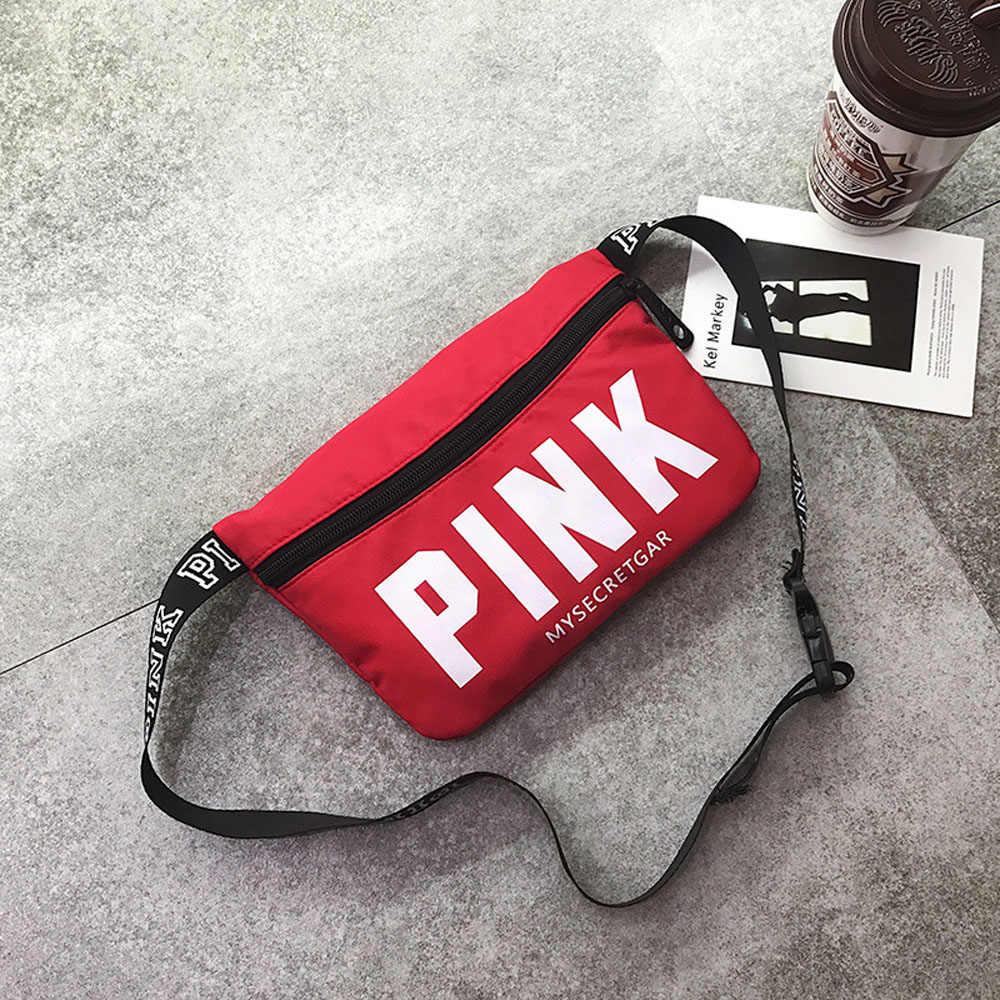最小ピンクファニーパックビーチ対角線バッグカードホルダー胸バッグカジュアル heuptas ウエスト女性ポケットポーチベルト