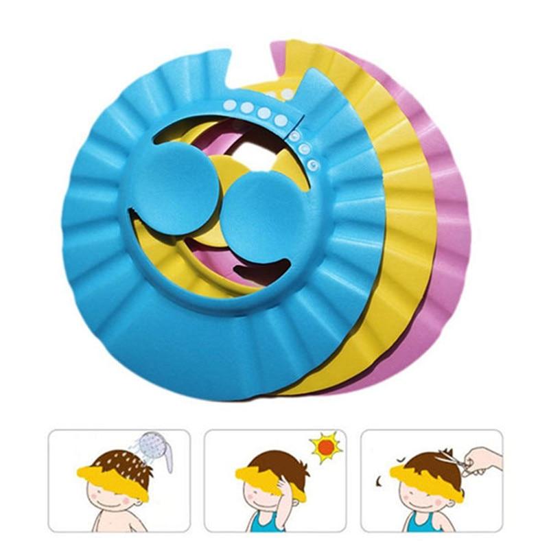 Vvcare BC-AR86 Child Shampoo Shower Cap Bath Hat Protect Ear Soft Caps Adjustable Rubber