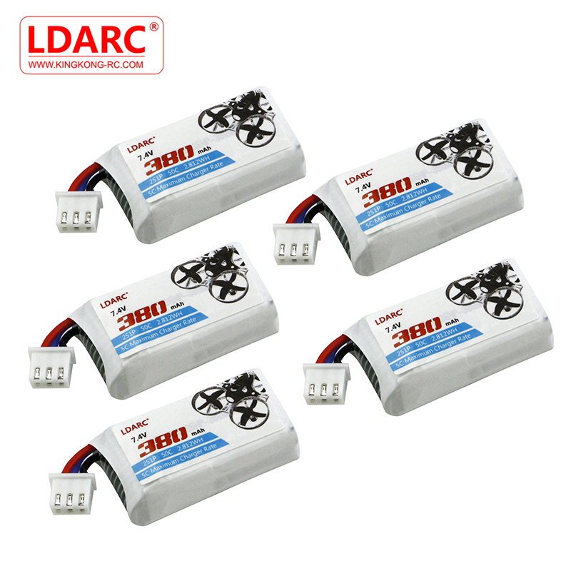 5PCS KINGKONG/LDARC TINY GT7 GT8 FPV Racing Drone Spare Part 7.4V 380mAh 50C Lipo Battery RC Models Drone Spare Part Accessories