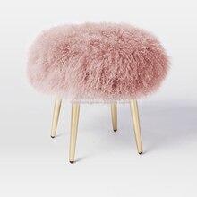Скандинавский современный минималистичный пляжный шерстяной табурет из нержавеющей стали для спальни табурет для туалетного столика диван для замены обуви скамейка Dotomy маленький табурет