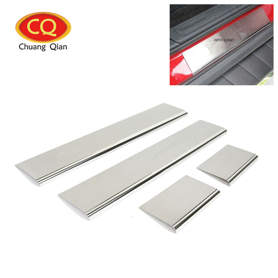 Stainless Steel Door Sill Scuff Plate Guard For Jeep Grand Cherokee 2011-2018