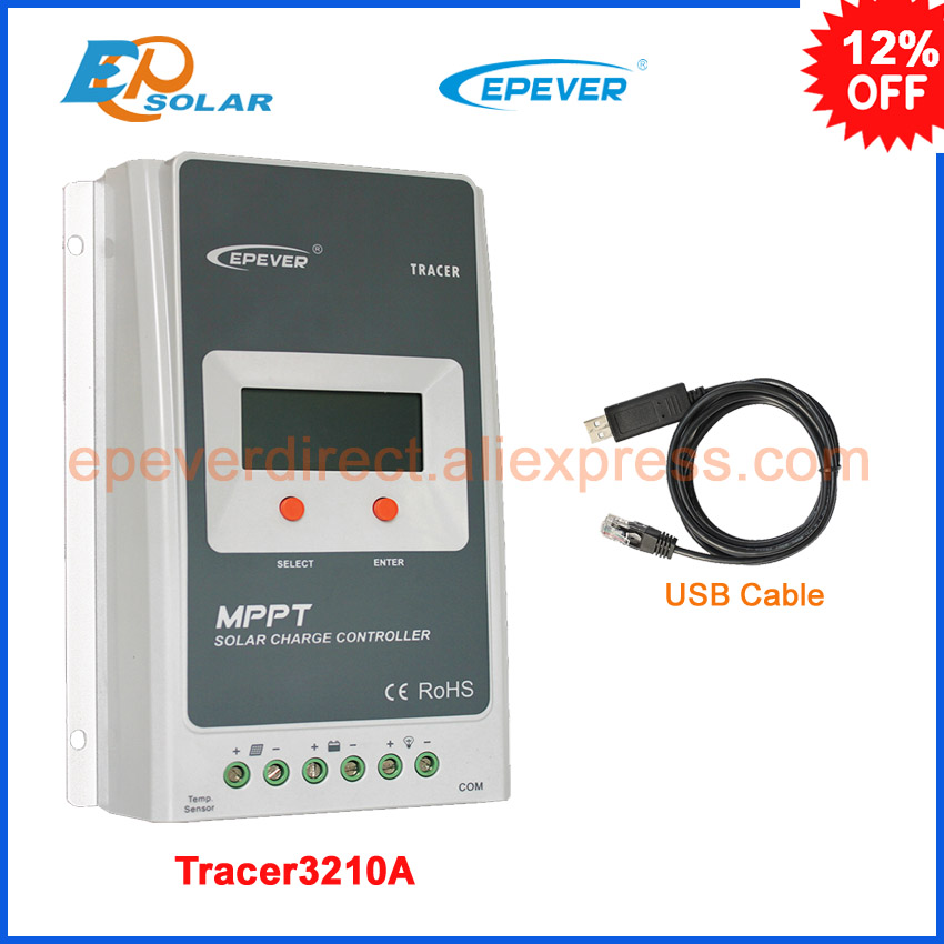 все цены на EPEVER Tracer 3210A EPsloar 30A MPPT Solar Charge Controller 12v 24v auto work max PV 100V input with USB Communication Cable онлайн
