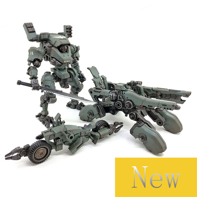Genuine Joy Toy 1:27 robot figures the 3rd generation mecha mecha Quebec iron model motorcycle double turret movable deformable 5pcs lots 2017 film extraordinary corps mecha five beast hand collection model toy