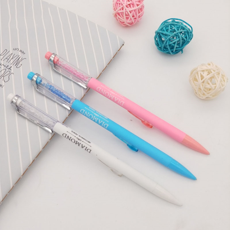 1Pc Kawaii Diamond Mechanical Pencil Cute Plastic Colored Automatic Pencils For Gift Office School Supplies Creative Stationery