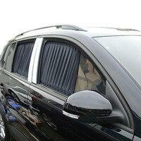 Di alta Qualità 70 S 70*37 cm Nero del Panno del Tessuto Auto Regolabile UV Parasole Visor Tenda Della Finestra