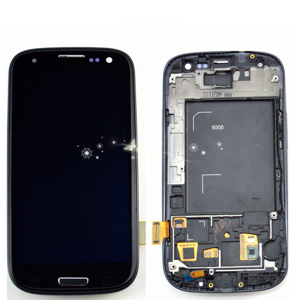 New Replacement LCD Display Touch Digitizer Screen With Frame Assembly for samsung S3 I9300 free shipping чайник электрический scarlett sc ek21s41