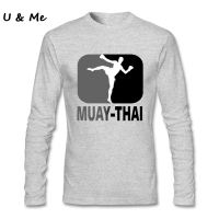 2017 Muay Thai T Shirt Men Vintage Maker Shirt Boxinger T Shirts Natural Cotton Full Sleeved