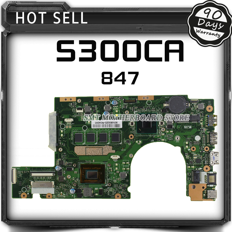 Original S300CA Laptop Motherboard 847 CPU REV2.0 S300CA mainboard Fully tested & working виниловые обои zambaiti splendor 2016 7319z