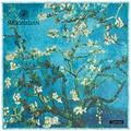 130*130 cm das mulheres cashmere Outono novos lenços 2017 pintura a Óleo da árvore da flor de damasco padrão das senhoras lenço de seda atacado presente