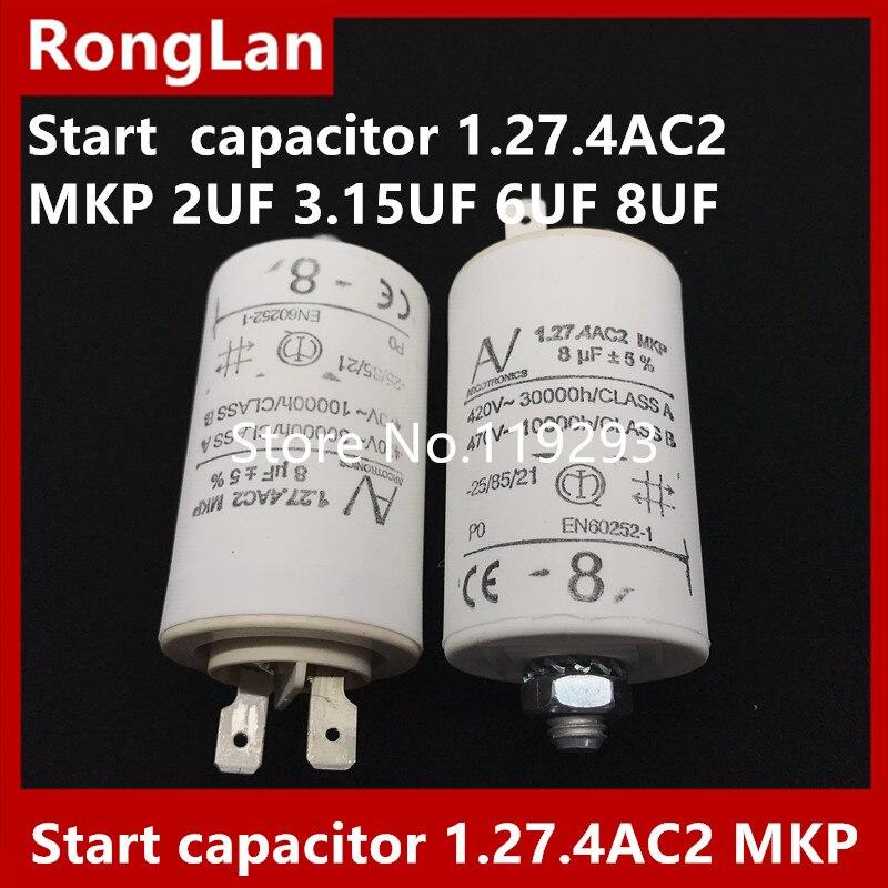 [BELLA] [New Original] ARCOTRONICS Moteur onduleur condensateur de démarrage 1.27.4AC2 MKP 2 UF 3.15 UF 6 UF 8 UF