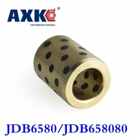 2017 Jdb6580/jdb658080 (id*od*l=65*80*80mm) Oilless Bearing| Self lubricant Impregnated Graphite Brass/copper Flange Bushing