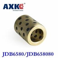 2019 Jdb6580/jdb658080 (id*od*l=65*80*80mm) Oilless Bearing| Self lubricant Impregnated Graphite Brass/copper Flange Bushing