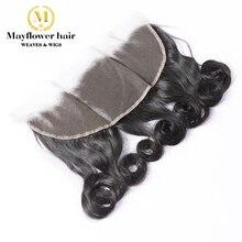 """МФХ 13x"""" кружева фронтальной Фунми волосы Egg кудри уха до уха линии волос ребенка Расставание 8""""-1"""" Natural черные волосы Remy Продукты"""