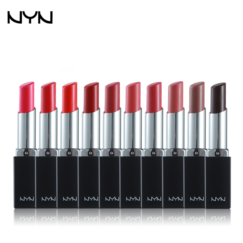 10 Colors NYN Lipstick Waterproof Long-lasting Batom Matte Maquillage Dark Retro Red/Pink Lip Stick Makeup Brand Moisturizing