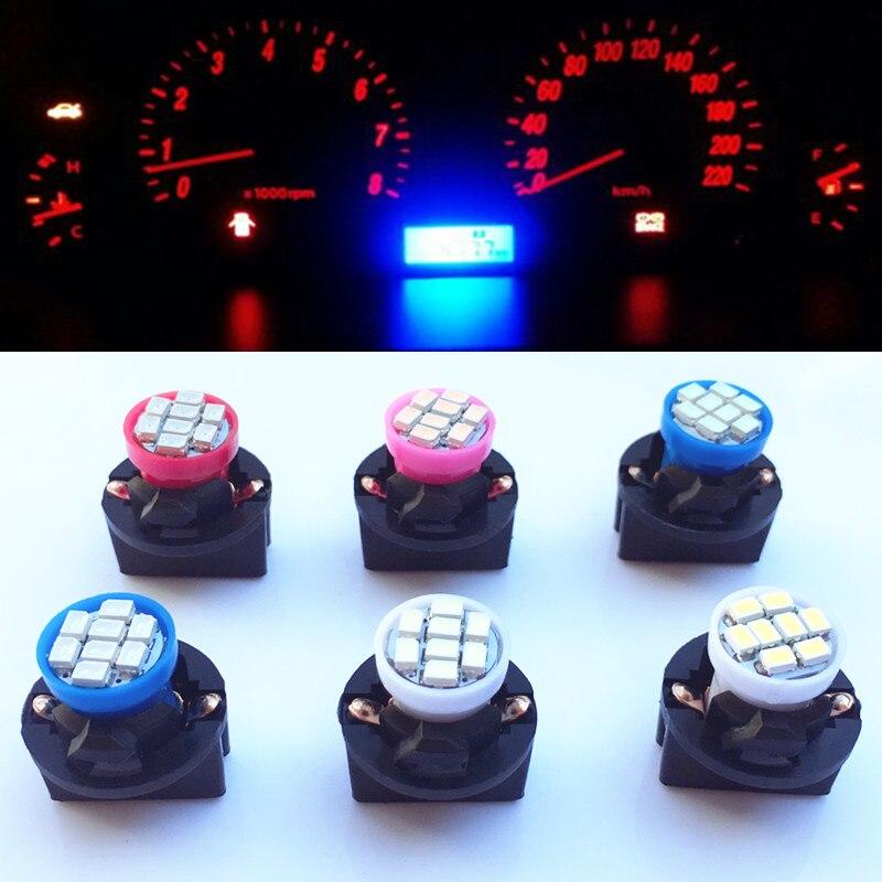 10pcs T10 W5W 8SMD 194 Wedge LED Light Bulb Car Dashboard Instrument Cluster Bulb Speedometer Odometer Dash Gauges Lighting