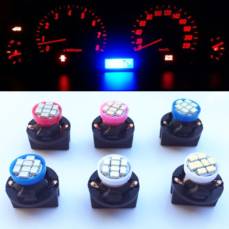 10pcs T10 W5W 8SMD 194 Wedge LED Light Bulb Car Dashboard Instrument Cluster Bulb Speedometer Odometer Dash Gauges Lighting