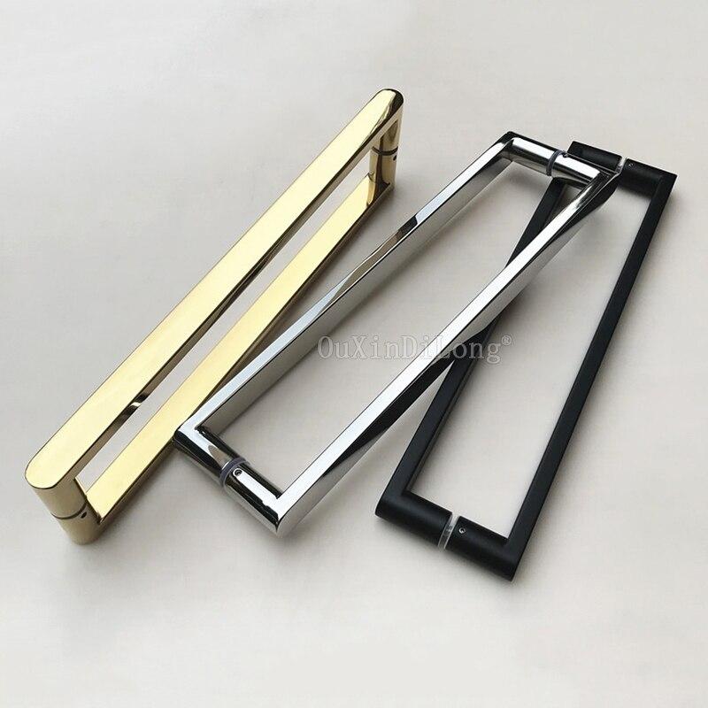 Brand New 1PCS Stainless Steel Frameless Shower Door Handles Pull / Push Glass Door Handles for 8~12mm Glass JF1252