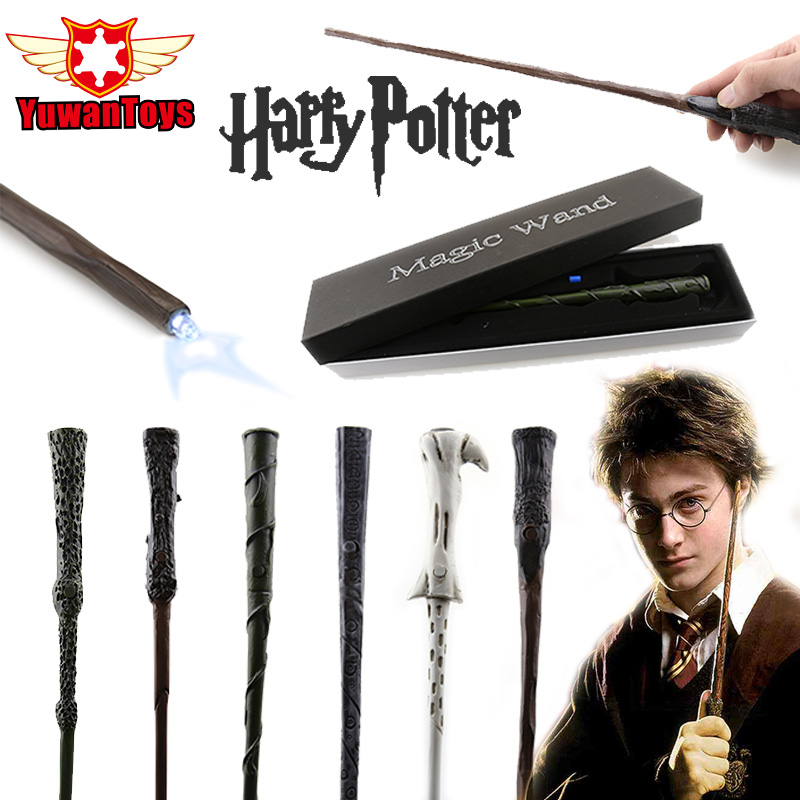 NEW Genuine Harry Potter Wand LED Light Magic Wand Comes With Spare Battery The Best Cosplay Props Can Choose Gift Box Packaging 2017 new arrival the elder wand harry potter magic wand with light cosplay prop film periphery collection child toy kids toys