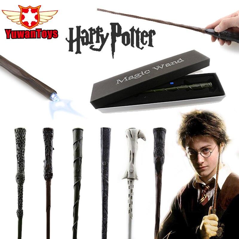 NOUVEAU Véritable Harry Potter Baguette LED Lumière Magique Baguette Est Livré Avec Batterie de rechange Le Meilleur Cosplay Accessoires Peuvent Choisir Emballage Boîte-Cadeau