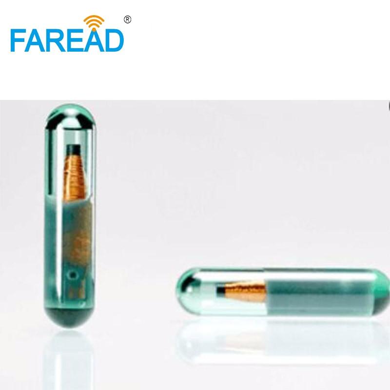 X10pcs 3*13mm 13.56MHz Rfid Chip Vigo Microchip Glass Tube With ISO15693 Standard