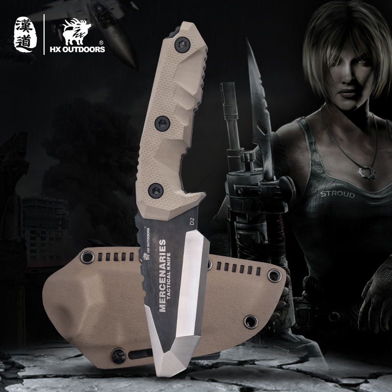 HX OUTDOORS Portable Tactical Knife Camping Knife Hunting Multi-function Survival Gear Mercenaries BIG knifves outdoor tool mymei multi function 5 in 1 outdoor knife carabiner opener screwdriver tool camping climbing equipment survival tactical gear