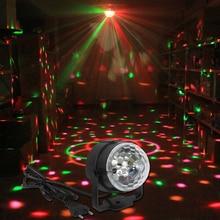 Профессиональный 3 Вт Мини RGB LED Кристалл Magic Ball Освещение Сцены эффект Лампа Партии Дискотека DJ Light Show США/ЕС Plug