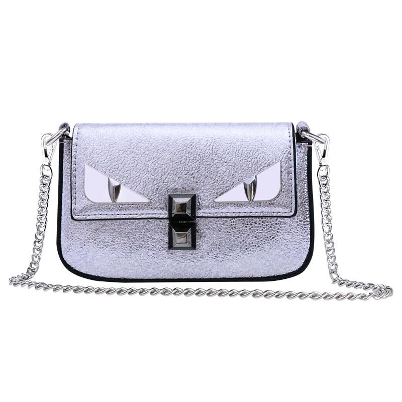 New female chain bag small monster shoulder Messenger bag mini fashion 3